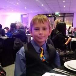 Young Dirk at the awards dinne