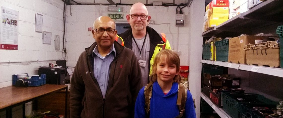 Visit From A Young Fundraiser Luton Foodbank