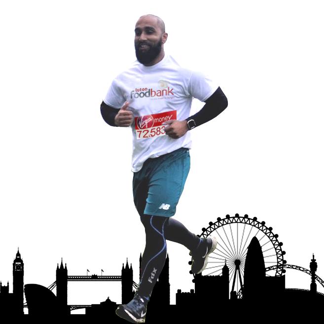 Shahed Koyes Luton Foodbank London Marathon 2018
