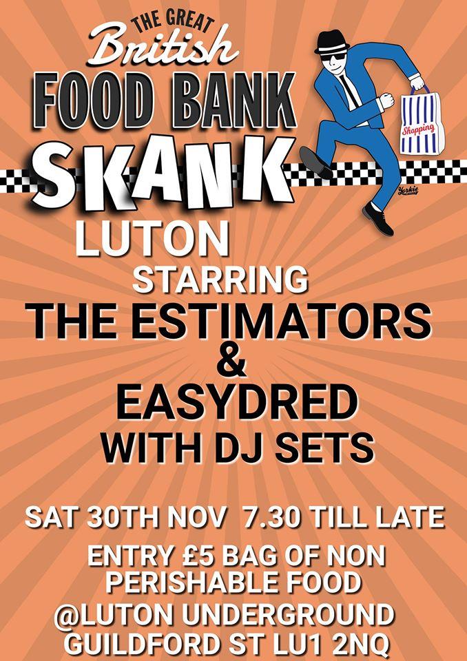 The Great British Food Bank Skank 30 Nov Luton Foodbank